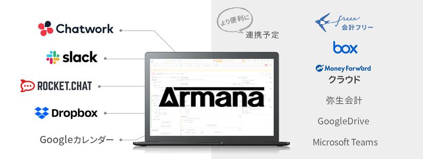 Armanaと外部システムとの連携機能が続々追加予定